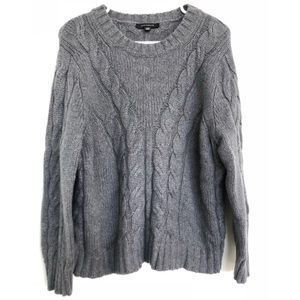 Ann Taylor Charcoal Gray Alpaca Blend Sweater XXL